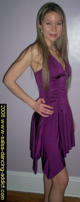 Salsa Clothes - Millie in Purple Gathered Bodice Dress - Find more Salsa Dresses at EK Clothing