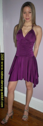 e.K. Clothing Purple Gathered Bodice Dress