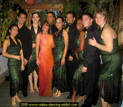 Salsa Dancers from the Advance Salsa Performance Group