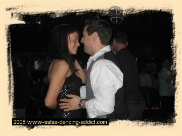 Bracey and Rob salsa dancing