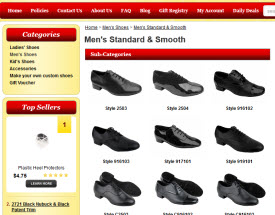 Exotic Salsa Shoes Navigation