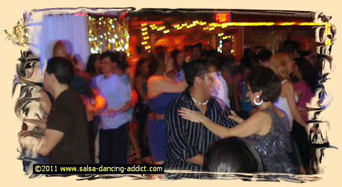 First Salsa Dance Crowded Floor
