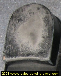 Salsa Shoe Heel Worn Out